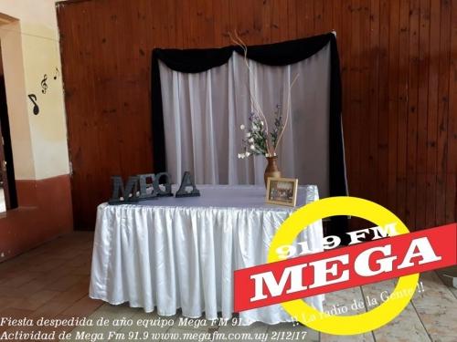 Fiesta despedida de año equipo Mega FM 91.9 año 2017
